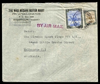 Lot 4605:1948 (Aug 13) use of 5m & 4p on air cover to Melbourne.