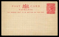 Lot 10132:1884-1902 Border Removed Hobart Printing HG #3c 1d pink on white.