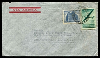 Lot 3652:1948 (Sep 29) use of 35c GPO & 1p25 Air on air cover to Melbourne.