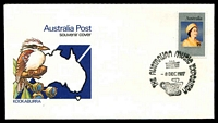 Lot 1087:1977 Australian Music Exposition special cancel of 8DEC1977 on 18c on APO souvenir cover.
