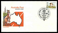 Lot 955:1978 Geelong Trade Exhibition 'GEELONG TRADE EXHIBITION 1978 VIC.3220/GTI/9SEP1978/[Jaycee logo]' on 20c Wombat on APO kangaroo souvenir cover, unaddressed. [Only 800 postmarked]
