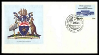 Lot 1089:1979 International Music Council Melbourne Pictorial cds on 20c Hobart PSE. [Only 178 postmarked]