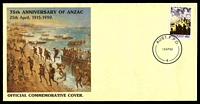 Lot 974:1990 75th Anniversary of Anzac 'AUST. F.P.O./12AP90/4' on 41c Anzac on commemorative cover. Cover #4 produced by the Army Museum.