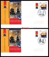 Lot 594:2002 Encounter set of 17 covers with different cds cancelling 45c Ship P-Stamp