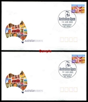 Lot 5057:2003 Australian Open set of 14 covers with different daily cds.