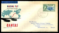 Lot 625 [1 of 2]:1959 Fiji - Honolulu AAMC #1407a Illustrated Qantas Boeing 707 cover, intermediate.