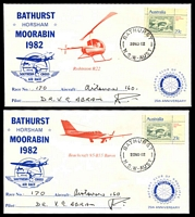 Lot 1031 [1 of 4]:1982 Southern Cross Air Race AAMC #1963 set of 6 Rotary covers for different planes signed by pilots, plus race brochure.