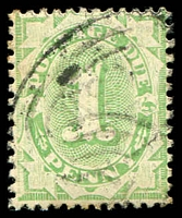 Lot 821:1902-04 Design Completed Wmk Crown/NSW BW #D15 1d Emerald, P11½-12x11.