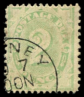 Lot 824:1902-04 Design Completed Wmk Crown/NSW BW #D21a 1d dull green, P11½-12x11, wmk inverted.