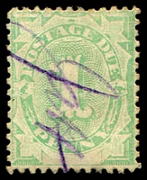 Lot 3939:1902 Converted NSW Plates BW #D2 1d emerald, P11½-12x11½.