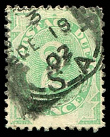 Lot 932:1902 Converted NSW Plates BW #D7 2d emerald, P11½-12x11½