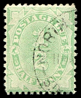 Lot 825:1906-08 Design Completed Wmk Crown/Single Lined A BW #D46 ½d emerald, P11½-12x11, Cat $10.