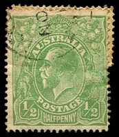 Lot 2651:½d Green - coil join single, rare survivor.