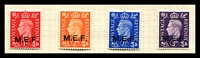 Lot 3792:1942 'M.E.F.' on GB SG #M1-4 1d to 3d. (4)
