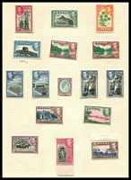 Lot 3832:1938-49 KGVI Pictorials SG #386-99 complete set including 1940-41 surcharges, Cat £95. (16)