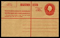 Lot 3343:1959 QEII Embossed HG #C1 30c red on manilla, unused.