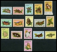 Lot 3842:1982-83 Butterflies & Moths SG #84-99 set of 16, Cat £14.50.