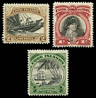Lot 3356 [2 of 2]:1933 Pictorials Wmk NZ/Star P14 SG #106-12 set of 7, Cat £28.