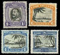 Lot 20333 [1 of 2]:1933 Pictorials Wmk NZ/Star P14 SG #106-12 set of 7, Cat £28.