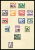 Lot 3679:1938-51 KGVI SG #151-62 ¼pi to 90pi, excl ½pi violet, 1½pi green, 2½pi, & 4pi, Cat £130+.