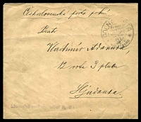 Lot 21103:1919(C) use of stampless envelope, cancelled with double-circle 'POLNÍ PO