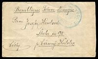 Lot 21105:1919(C) envelope, cancelled with triple-circle 'POLNI POSTA/CESKO-/SLOVENSKE/VOJSKO/NA RUSI/[posthorn]/1/POSTE/MILITAIRE/[1]