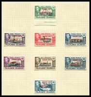 Lot 4014:1944-45 Graham Land SG #A1-8 complete set of 8, Cat £24.