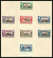 Lot 19373:1944-45 South Georgia SG #B1-8 complete set of 8, Cat £24.