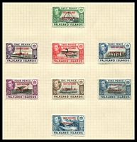 Lot 21815:1944-45 South Shetlands SG #D1-8 complete set of 8, Cat £24.