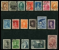 Lot 4183:1930 Independence Centenary SG #433-50 complete set of 18, Cat £110.