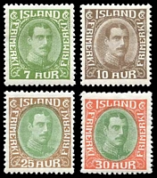 Lot 4162 [2 of 4]:1931-37 Christian X SG #182-94 complete set, a few hinge remainders and 2k has disturbed gum. (13)