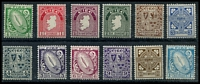 Lot 4205:1940-68 Definitives Wmk e SG #111-22 set to 1/- excl 8d & 11d, Cat £85. (12)