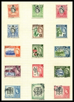 Lot 3858:1956-58 QE II Pictorials SG #159-73 set to 10/-, Cat £33. (15)