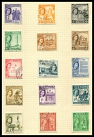 Lot 4391:1956-58 QEII Pictorials SG #266-80 set to 5/-.