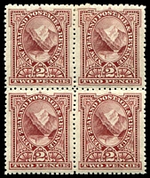 Lot 4409:1898 Pictorials SG #248 2d lake block of 4, Cat £140+.