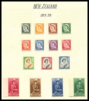 Lot 4173:1953-9 QEII SG #723-36 set to 10/- excl 1/9d, Cat £95.
