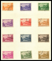 Lot 4458:1947-59 Ball Bay SG #1-12 original paper CTO set of 12.