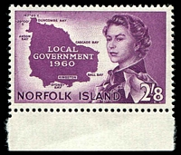 Lot 4036:1960 Local Government SG #40 2/8d reddish purple.