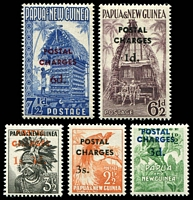 Lot 4519:1960 'POSTAL CHARGES' Opt SG #D2-6 1d to 3/- complete. (5)