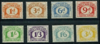 Lot 24112:1960 Postal Charges SG #D7-14 1d to 3/- complete. (8)