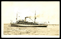 Lot 554:Guam: black and white PPC of 'U.S.S. PENGUIN' in Apra Harbour, Guam.