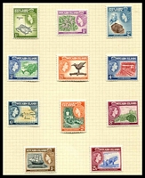 Lot 23650:1957-63 QEII Pictorials SG #18-28 complete set, excl 2nd 4d, Cat £48. (11)
