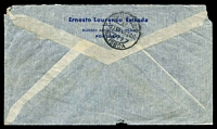 Lot 27475 [2 of 2]:1948 (Apr 16) use of 2$50 Caravel x3 on air cover to Melbourne, small faults.