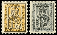 Lot 4540:1953 St Martin SG #1094-5 set of 2, MNG, Cat £22.50.