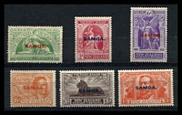 Lot 4128:1920 NZ Victory Opts SG #143-8 complete set of 6, ½d & 1½d MNG, Cat £32.