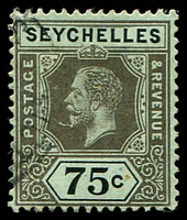 Lot 27223:1917-22 KGV Wmk MCA SG #93 75c Die I, Cat £23.