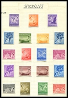 Lot 4608:1954-61 QEII Pictorials SG #174-88 set of 19.