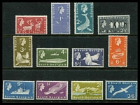 Lot 4672:1963-69 Pictorials SG #1-12 set to 2/6d, Cat £80.