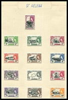 Lot 4584:1953-59 QEII Pictorials SG #153-65 set of 13, Cat £80.