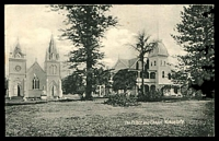 Lot 22225:1911 George II HG #2, with black and white view 'The Palace and Chapel, Nukualofa'. Fine unused.